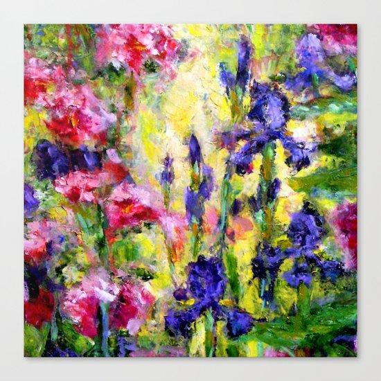 Purple Iris Garden Canvas Print