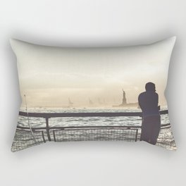 Lady Liberty, my man, some fisher people. Rectangular Pillow