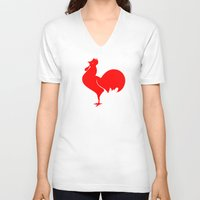 france V-neck T-shirts featuring France by Skiller Moves