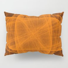 Eternal Rounded Cross in Orange Brown Pillow Sham