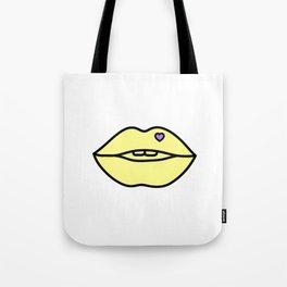 Kiss Me Yellow Tote Bag