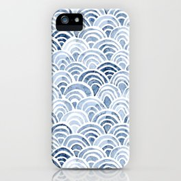 Indigo Oriental Sea iPhone Case
