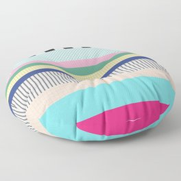 Stripes Mixed Print and Pattern with Color blocking Floor Pillow