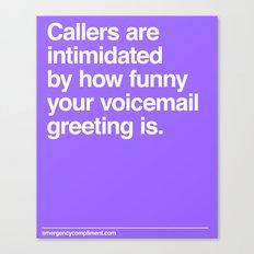 Voicemail Canvas Print