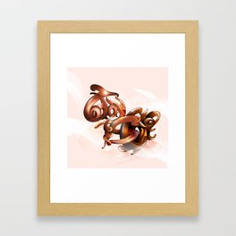 TODAY I STRIKE. Framed Art Print