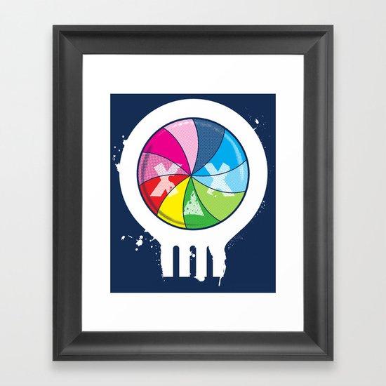 Pinwheel of Death Framed Art Print