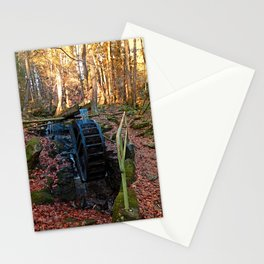 Water wheel in the wood | architectural photography Stationery Cards