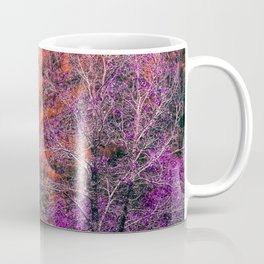 autumn tree in the forest with purple and brown leaf Coffee Mug