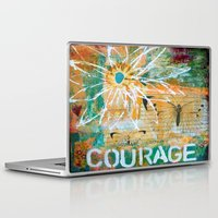 courage Laptop & iPad Skins featuring Courage by kathleentennant