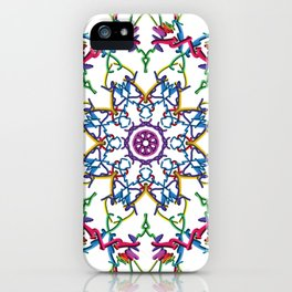 Kaleidoscope Flower Art iPhone Case
