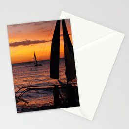 Borocay Sunset Philippines Stationery Cards