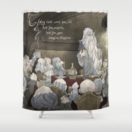 They've come for tea, & for supper, & for you Shower Curtain