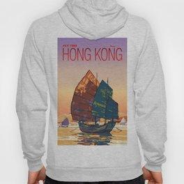 Vintage-Style Hong Kong Travel Poster Hoody