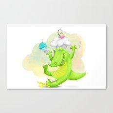Slippery gator Canvas Print