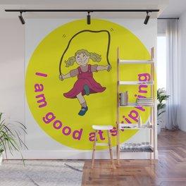 I am good at skipping! Wall Mural