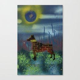 Dog Occupy Wall Canvas Print