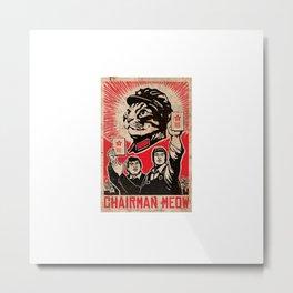 Mao Cat Metal Print