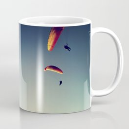 two paragliders from above Coffee Mug