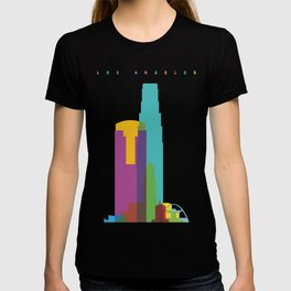 Shapes of Los Angeles accurate to scale T-shirt