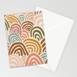 Rainbow Dreams   Vintage on Sand   Abstract Rainbow Wall Art Stationery Cards