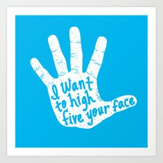 Hand to Face Art Print