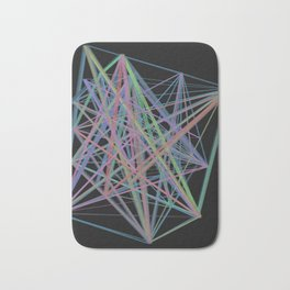 Geometric Diamond Light Prism Bath Mat