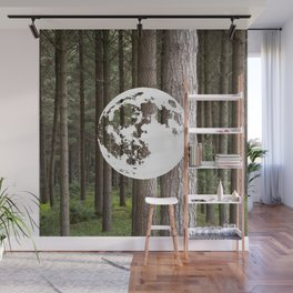 Full Moon Forest Bathing Wall Mural