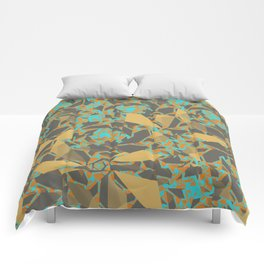 Blowing Leaves Abstract Comforters