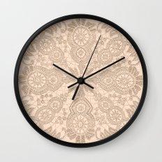Pale Pink Lace Wall Clock
