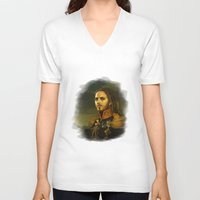 tim shumate V-neck T-shirts featuring Tim Minchin - replaceface by replaceface