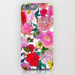 Peonies & Roses iPhone Case