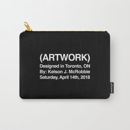 (ARTWORK) Black Carry-All Pouch