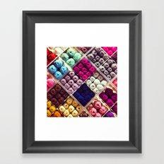 Yarn Display Framed Art Print
