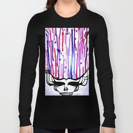One of a Kind Grateful Dead Head Painting  Long Sleeve T-shirt