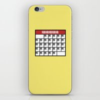 calendar iPhone & iPod Skins featuring The Laughing Calendar by Josh LaFayette
