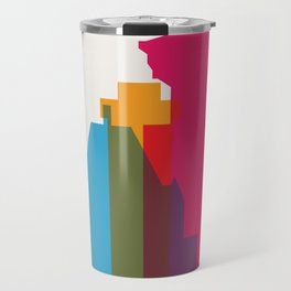 Shapes of Vancouver. Accurate to scale. Travel Mug