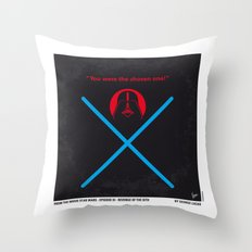 No225 My Star E-III minimal movie poster wars Throw Pillow