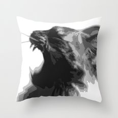 Kitty War Cry Throw Pillow