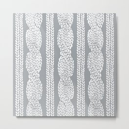 Cable Grey Metal Print