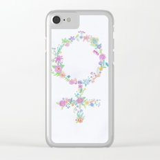 Feminist flower Clear iPhone Case