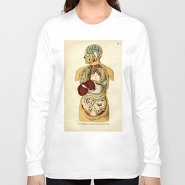 Internal organs of the Human Body Long Sleeve T-shirt