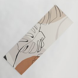 Minimal Abstract Art- Monstera Yoga Mat