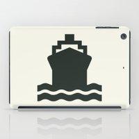 ship iPad Cases featuring Ship by Alejandro Díaz