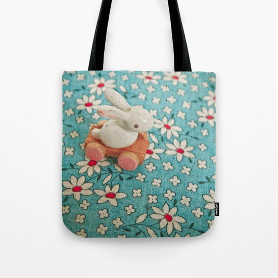 Bunny Blues Tote Bag