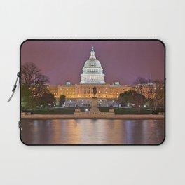 Glowing Washington DC Capitol Laptop Sleeve