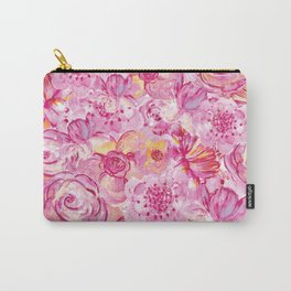 Rose pattern - Floral roses watercolor pattern Carry-All Pouch