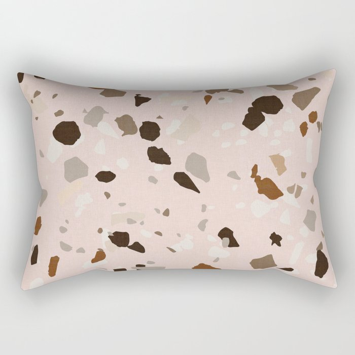TERRAZZO OCHRE Rectangular Pillow
