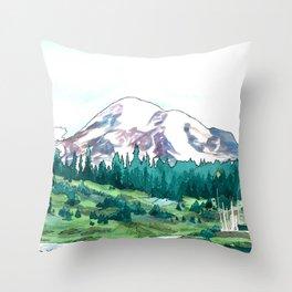 Mountain Paradise Throw Pillow