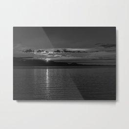 Sunset Noir Metal Print