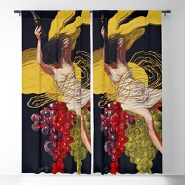 Asti CINZANO Vintage Ad 1921 Drink Poster - Restaurant Kitchen Bar Cafe Grapes Woman Yellow Leonetto Cappiello Lithograph Art Wall Blackout Curtain